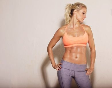 Athletic Woman with Sixpack Abs